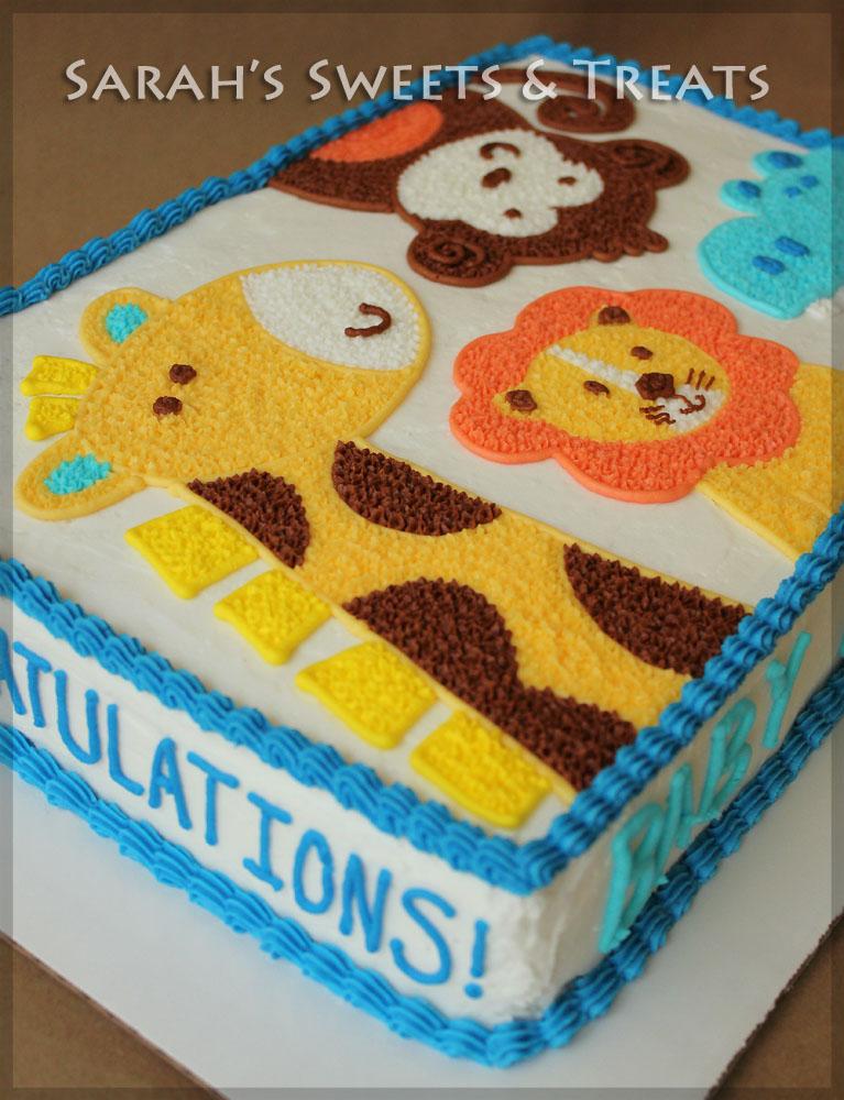 Jungle birthday cakes animal birthday cakes animal cakes 7 cakes cakes - Blue Ombre Animal Cake Sarah S Sweets Amp Treats